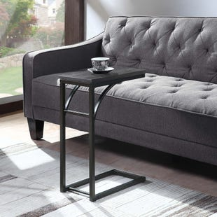 Coaster Weathered Gray/Black Snack Table