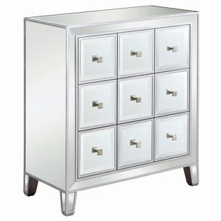 Scott Living Norah Silver Mirrored Accent Chest