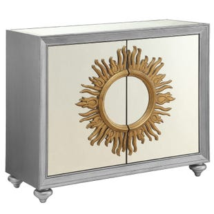 Arya Silver Gold Mirrored Accent Chest
