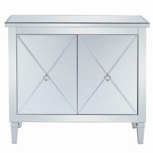 Scott Living Jayla Silver Mirrored Accent Chest