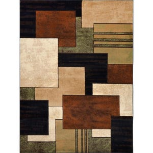 Tribeca Brown-Green 8x10 Rug