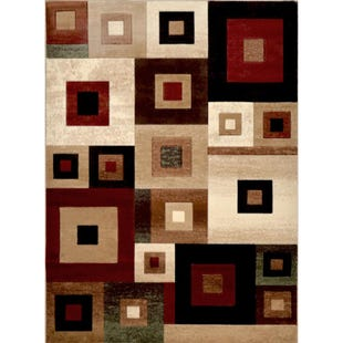 Tribeca Brown Square 8x10 Rug