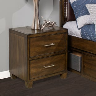 Dawson's Ridge Brown 2 Drawer Nightstand