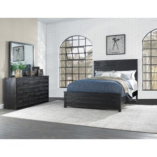 Villa Black Queen 3 Piece Bedroom Set
