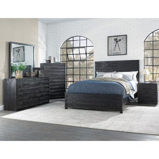 Villa Black King 3 Piece Bedroom Set