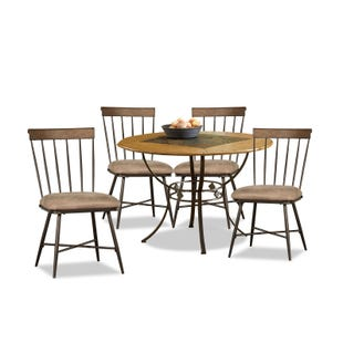 Lakeview Brown and Oak 5 Piece Dining Set