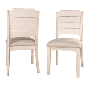 Clarion Sea White Set of 2 Dining Chairs