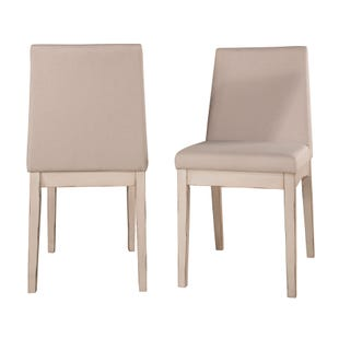 Clarion Sea White Set of 2 Upholstered Dining Chairs
