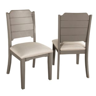 Clarion Set of 2 Distressed Gray Side Dining Chair