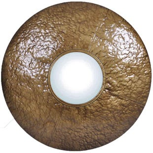 "Jimco 30"" Hammered Bronze Round Mirror"