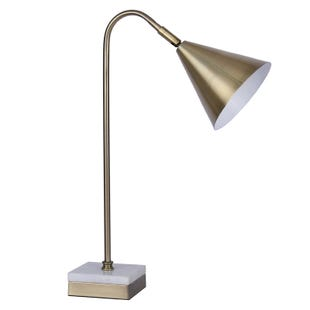 Lani Brass and Marble Accent Lamp