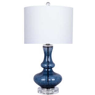 Seeded Blue Table Lamp