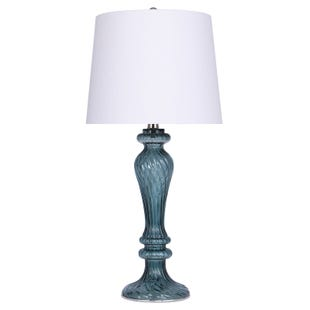 Teal Glass Table Lamp