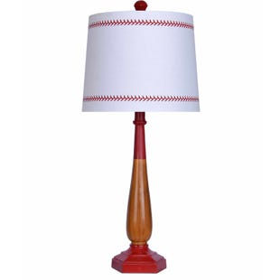 Red Baseball Table Lamp