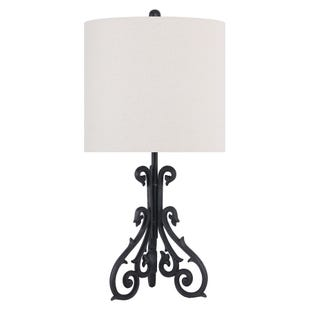 Black Iron Table Lamp