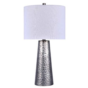 Silver Vintage Metal Finish Table Lamp