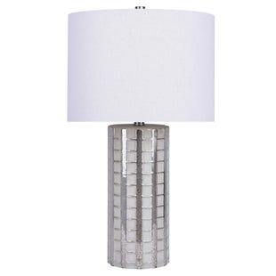 White Wash Glass Table Lamp
