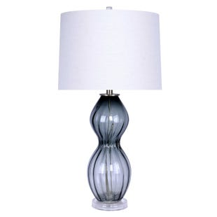 Gray Glass Table Lamp