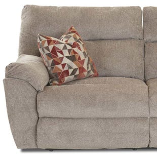 St. Andrews Pewter Reclining Sofa with Pillows