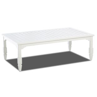 Klaussner Mimosa White Aluminum Plank Top Cocktail Table