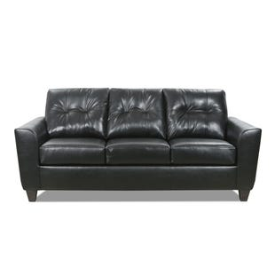 Lane Bazaar Black Leather Sofa