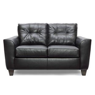 Lane Bazaar Black Leather Loveseat
