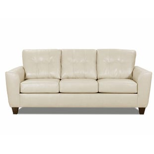 Lane Bazaar Cream Leather Sofa