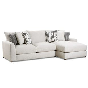 Emperor Ivory Chenille Right Facing Sofa Chaise