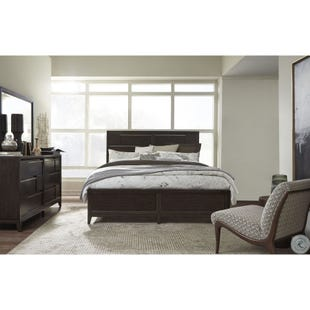 Modern Geometry Brown Queen 3 Piece Bedroom Set