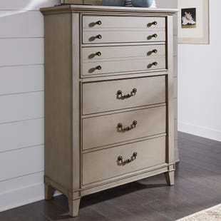 Samuel Lawrence Sausalito Weathered Taupe 5 Drawer Chest