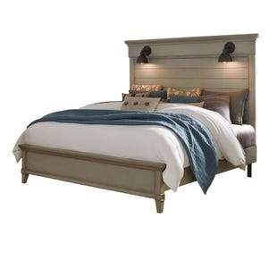 Sausalito Weathered Taupe Lighted Queen Bed