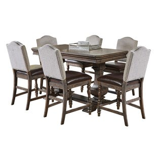 Santa Barbara Medium Brown 7 Piece Counter Height Set