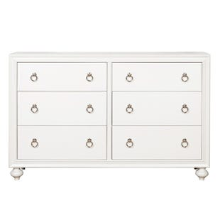 Bella White 6 Drawer Dresser