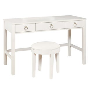 Bella White Vanity Desk/Stool