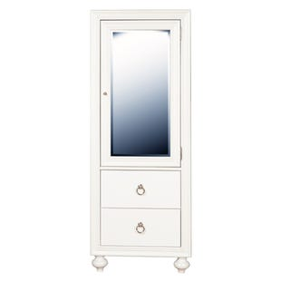 Bella White 2 Drawer Wardrobe