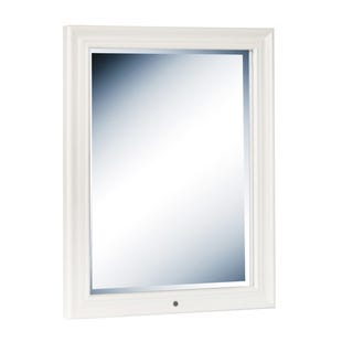 Bella White Vanity Storage Mirror