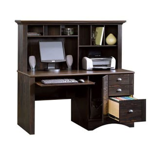 Edge Water Desk W/Hutch