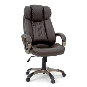 Sauder Wyatt Brown Leather Rolling Office Chair
