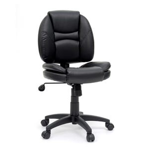Sauder Jay Black Duraplush Swivel Rolling Desk Chair
