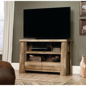 "Sauder Boone Mountain Rustic Storage 47"" TV Stand"