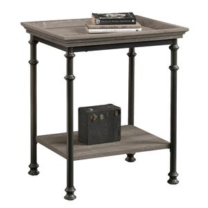 Sauder Canal Street Gray End Table