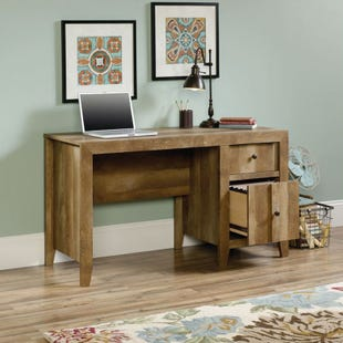 Sauder Dakota Pass Rustic 2 Drawer Desk