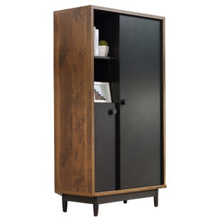 Sauder Harvey Park Grand Walnut Storage Cabinet