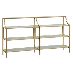Lux Brass and Glass Sofa Table
