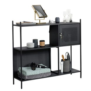 Boulevard Cafe Black Metal Storage Cabinet