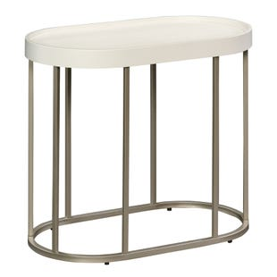 Manhattan White Side Table