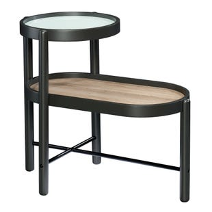 Porto 2 Tiered Gray Side Table