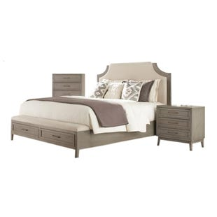 Vogue Gray Wash King Bedroom Set