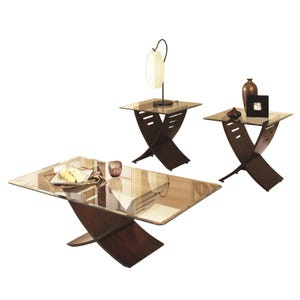 Cafe Merlot 3-Pack Table Set