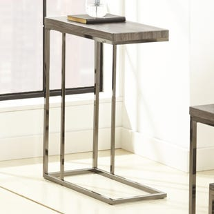 Lucia Gray/Black Nickle Chairside Table